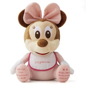 ベビーミニー ウェイトドール 体重ベア ウェイトベア 赤ちゃん 名入れ 結婚式 両親 記念品 プレゼント 贈り物 ギフト 誕生日 出産祝い 出生体重 入園 入学 七五三 ディズニー Disney