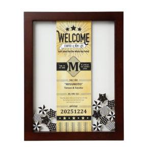ウェルカムボード ウェディング ウェルカムドロップス承認ボード ヴィンテージスター 50名様対応 おしゃれ 人前式 結婚証明書 演出アイテム 名入れ 記念日 結婚式 挙式日 受付 メッセージ 寄せ書き 結婚祝い プレゼント ギフト