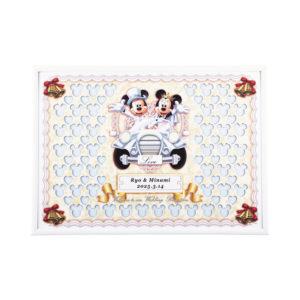 ウェルカムボード ウェディング Disney ディズニー クラシックカー ミッキーマウス ミニーマウス 演出アイテム 名入れ 記念日 結婚式 挙式日 受付 メッセージパズル 寄せ書き 結婚祝い プレゼント ギフト 二次会