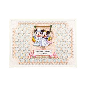 ウェルカムボード ウェディング Disney ディズニー スウィング ミッキーマウス ミニーマウス 演出アイテム 名入れ 記念日 結婚式 挙式日 受付 メッセージパズル 寄せ書き 結婚祝い プレゼント ギフト 二次会 ブランコ