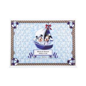ウェルカムボード ウェディング Disney ディズニー シップ ミッキーマウス ミニーマウス 演出アイテム 名入れ 記念日 結婚式 挙式日 受付 メッセージパズル 寄せ書き 結婚祝い プレゼント ギフト 二次会 船 マリン